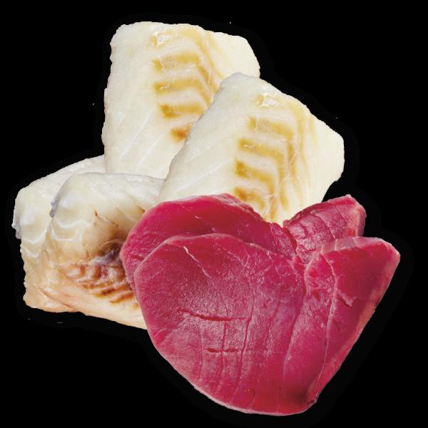 nutricion mascotas ingredientes atun bacalao sin cereal premium comida humeda lata perros light
