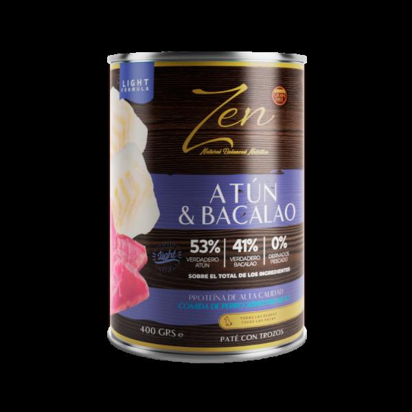 lata de paté para perros cualquier edad light con proteina de atun y bacalao sin cereal grain free premium