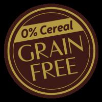 Sello de Grain Free libre de Cereales pienso sin gluten