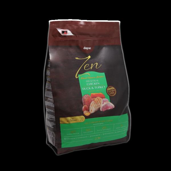 alimento seco perro mini chicken duck turkey sin cereal grain free alimentacion premium mascotas
