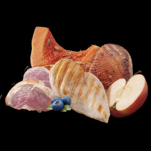 nutricion mascotas ingredientes turkey duck chicken pollo pavo pato sin cereal premium comida humeda lata perro adulto