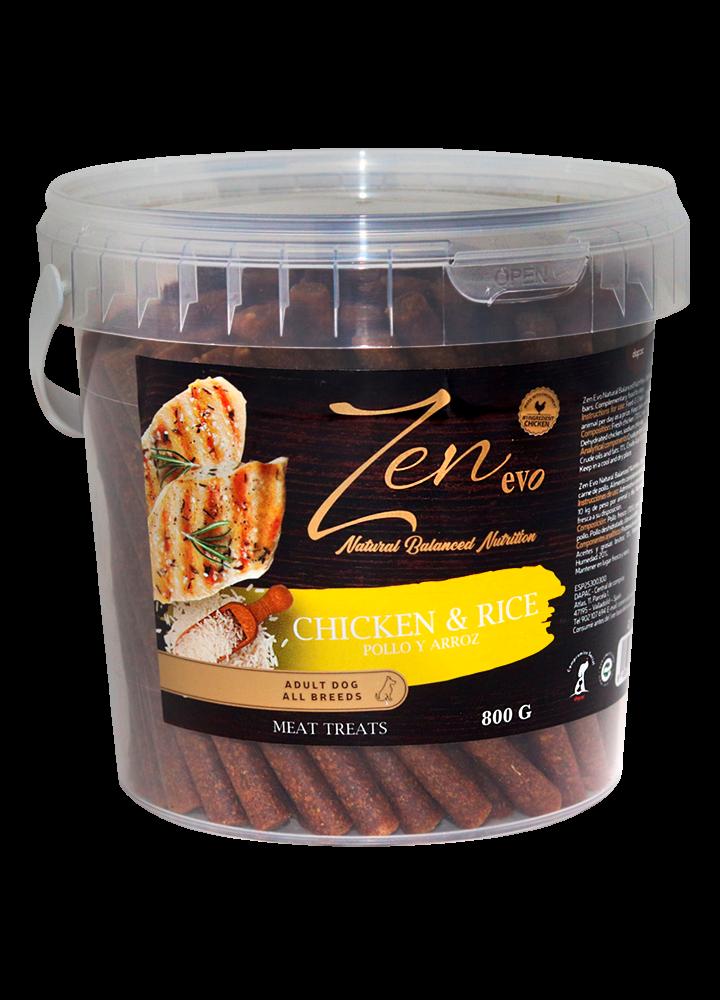 nutricion snacks treats chuche mascotas ingredientes pollo chicken rice arroz premium barritas sticks perros adultos grande pequeño