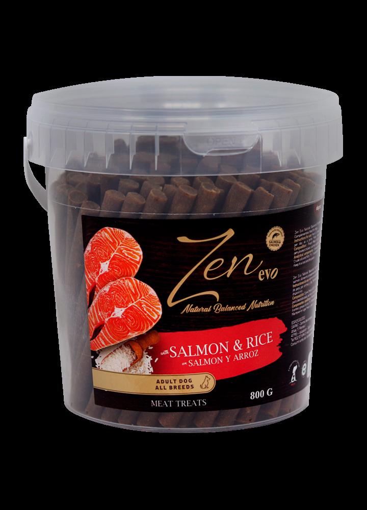 nutricion snacks treats chuche mascotas ingredientes salmon rice arroz premium barritas sticks perros adultos grande pequeño