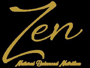 Zen Natural Balanced Nutrition Logotipo Dorado 1x